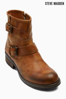 Brown Steve Madden Damiann Buckle Boot