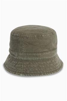 Khaki/Stone Reversible Fisherman's Hat