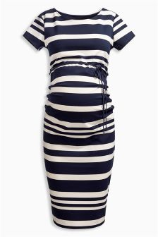 Maternity Stripe Bodycon Dress