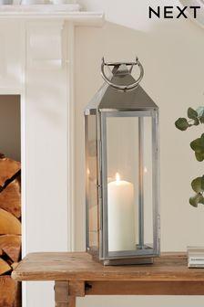 Large Chrome Lantern
