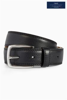 Signature Italian Leather Premium Stitch Belt