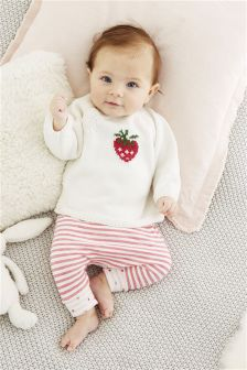Strawberry Joggers Two Pack (0mths-2yrs)