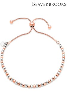 Beaverbrooks Silver Rose Gold Plated Bracelet