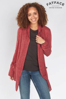 FatFace Berry Organic Libby Cardigan