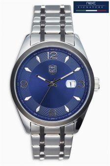 Silver Tone Signature Bracelet Watch