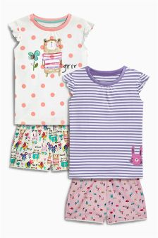Bear Shorts Pyjamas Two Pack (9mths-8yrs)