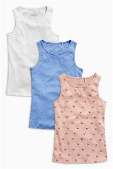 Multi Vest Three Pack (3-16yrs)