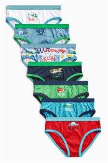 Multi Days Of The Week Briefs Seven Pack (1.5-12yrs)
