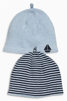 Beanie Hats Two Pack (0mths-2yrs)