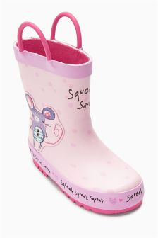 Pink Character Wellies (Younger Girls)