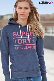 Superdry 90s Denim Marl Athl. League Loopback Hoody