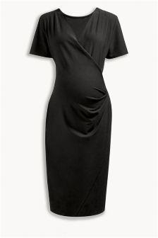 Black Drape Dress (Maternity)