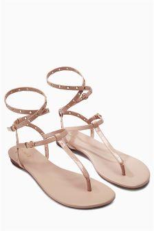 Eyelet Strappy Sandals