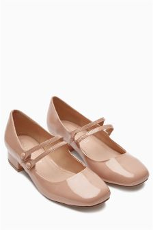 Two Strap Mary Jane Dolly Shoes
