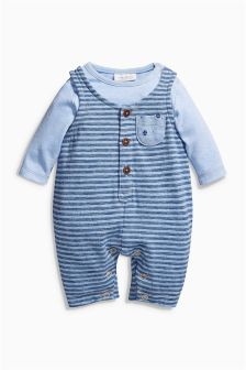 Blue Dungaree Set (0mths-2yrs)