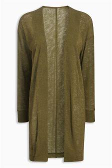 Knit-Look Longline Cardigan