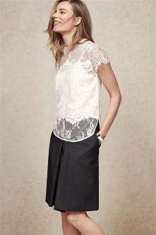 Grey Speckle Flip Skirt