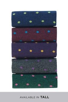 Small Spot Socks Five Pack