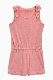Lace Trim Playsuit (3-16yrs)