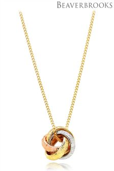 Beaverbrooks 9ct Three Colour Gold Pendant