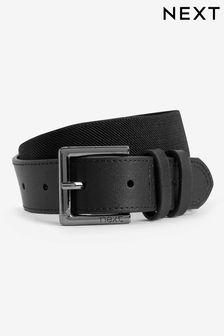 Black Leather And Elastic Belt (Older Boys)