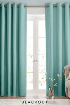 Cotton Blackout Eyelet Curtains