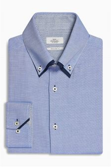 Blue Double Collared Shirt