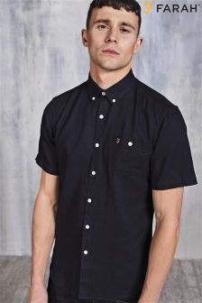Navy Farah Plain Shirt