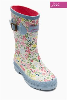 Pink Little Joule Floral Printed Welly