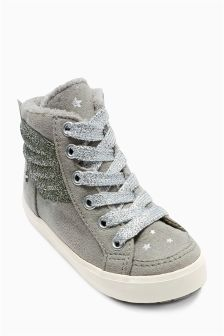Grey Wings Hi Tops (Younger Girls)