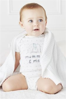 Mummy And Me Short Sleeve Bodysuit (0-18mths)