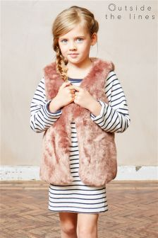 Outside The Lines Rose Plush Gilet