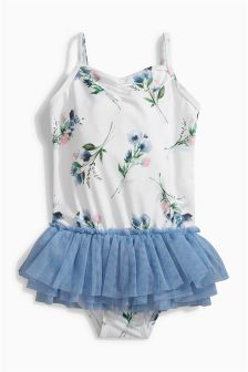 Floral Tutu Swimsuit (3mths-6yrs)