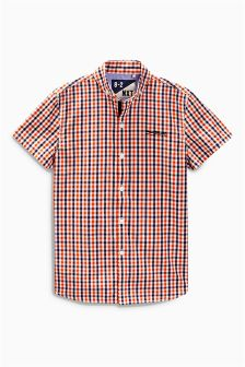 Red Short Sleeve Gingham Shirt (3-16yrs)