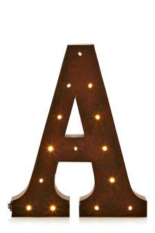 Lit Alphabet Metal Wall Plaque