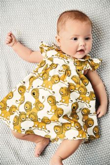 Lion Print Prom Dress And Knickers Set (0mths-2yrs)