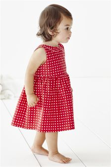 Red Spot Dress (0mths-2yrs)