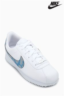 Nike White/Blue Cortez