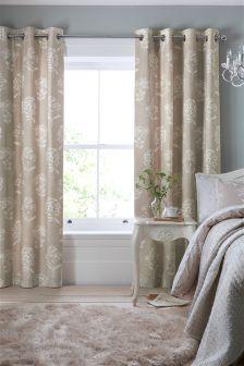 Cotton Rich Lace Floral Eyelet Curtains