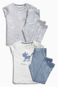 Legging Pyjamas Two Pack (3-16yrs)