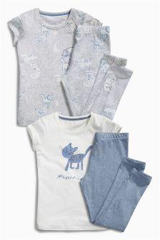 Grey Legging Pyjamas Two Pack (3-16yrs)