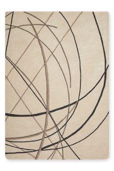 Natural Abstract Linear Rug