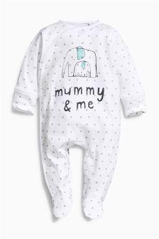 White Mummy & Me Sleepsuit (0-18mths)