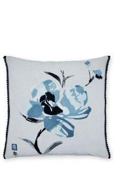 Embroidered Nara Floral Cushion