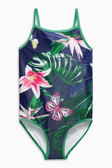 Tropical Print Swimsuit (3-16yrs)