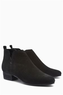 Leather Short Ankle Boots