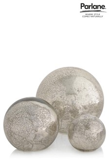 Set Of 3 Parlane Mirrored Balls With Lights