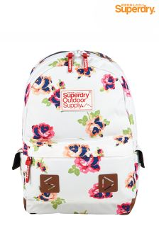 White Superdry Floral Backpack