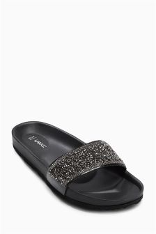 Embellished Footbed Mules