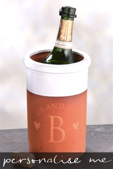 Mr And Mrs Initial Terracotta Wine Cooler By Letterfest